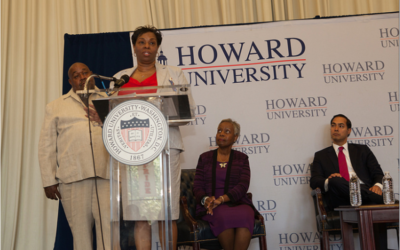 Clifton and Michelle Cottom Speak at the Fifth Annual President's Interfaith and Community Service Campus Challenge at Howard University in Washington, DC